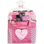 Words Of Inspiration Pink Chevron Tote Gift Assortment