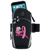 Be Bold, Be Fearless, Be Brave Cell Phone Armband With Earbuds