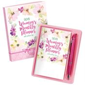 2018 Floral Cover Women's Monthly Planner & Pen Gift Set