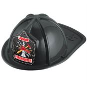 Metal Grate Junior Firefighter Black Hat