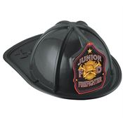 Junior F D Firefighter Black Hat