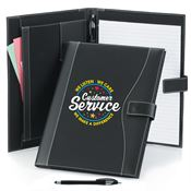 Customer Service: We Listen, We Care, We Make A Difference Leatherette Portfolio & Stylus Pen
