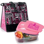 Words of Inspiration Insulated Eco-Lunch Bag & Food Container Gift Combo