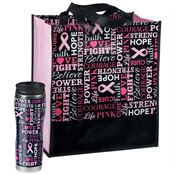 Words Of Inspiration Insulated Tumbler & Laminated Non-Insulated Shopper Tote Combo