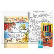Adult Coloring Book, Pencils & Sharpener Gift Set