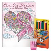 Color For The Cause Adult Coloring Book, Pencils, & Sharpener Gift Set