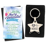 ER Nurse Star Key Tag With Keepsake Card