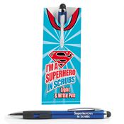 I'm A Superhero In Scrubs Light & Write Stylus Pen With Pillow Box