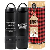 More Than Words Can Say Water Bottle 17-Oz. With Built-In Speaker in Holiday Gift Box
