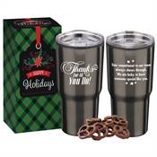 Thanks For All You Do! Stainless Steel To-Go Tumbler 20-Oz. With Treats in Holiday Gift Box