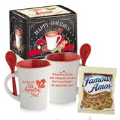For All You Do We Appreciate You! Ceramic Spooner Mug 8-Oz. With Cookies in Holiday Gift Box