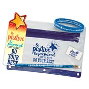 Be Positive, Be Prepared, And Always Do Your Best Pencil Test Prep Pouch