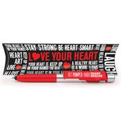 Get Pumped About Heart Health Elite 6-In-1 Pen With Pillow Box