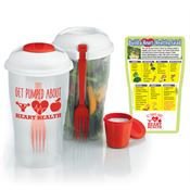 Get Pumped About Heart Health On-The-Go Salad Shaker & Magnet Combo