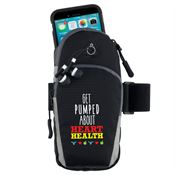 Get Pumped About Heart Health Cell Phone Arm Band With Earbuds
