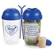 Volunteers Are The Heart Of Our Team Salad Shaker & Magnet Combo