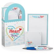 Volunteers Are The Heart Of Our Team Mini Paper Tote & Stationery Gift Set