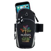 Nurses: It's In Our Nature To Care Cell Phone Armband With Earbuds