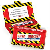 Nurses Emergency Chocolate Bar With Greeting Card Gift Box