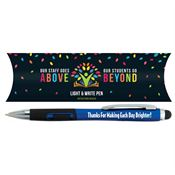 Our Staff Goes Above, Our Students Go Beyond Light & Write Stylus Pen With Pillow Box