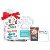 Paws-itively The Best Teachers & Staff Around Paw Gift Set Mini Tote