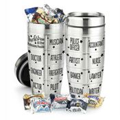 Teachers Make All Other Professions Possible Stainless Steel Message Tumbler With Chocolates 16-oz.