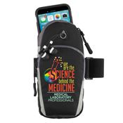 Medical Laboratory Professionals: We Are The Science Behind The Medicine Cell Phone Armband With Earbuds