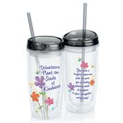 Volunteers Plant The Seeds Of Kindness Double-Wall Acrylic Tumbler With Straw
