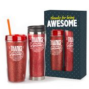 Thanks For Being Awesome Glitter Hot & Cold Gift Set