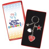I Make A Difference Charm Key Tag With Keepsake Card