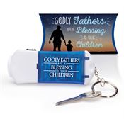 Godly Fathers Are A Blessing To Their Children Multi-Tool Key Ring With Pillow Box