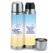 We Love, We Care, We Make A Difference Stainless Steel Vacuum Thermos Gift Set