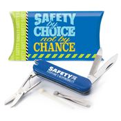 Safety By Choice Not By Chance Multi-Tool with Knife and Pillow Box