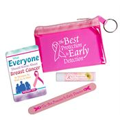 The Best Protection Is Early Detection Pink Translucent Zip Purse Gift Combo