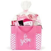 Pink Chevron Tote Gift Assortment
