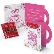 Cup Of Courage, Strength & Love Greeting Card With Tea