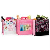 Breast Cancer Awareness Laminated Eco-Shopper Tote Assortment Pack