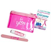 Be You Pink Translucent Zip Purse Gift Combo