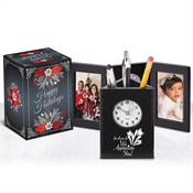 For All You Do We Appreciate You! Tri-Fold Frame Clock & Caddy in Holiday Gift Box