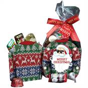 Merry Christmas Ugly Sweater Mini Paper Tote With Hershey's® Miniatures