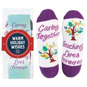 Caring Together, Touching Lives Forever Toe-Tally Awesome Socks Gift Set with Holiday Wrap