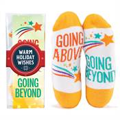 Going Above, Going Beyond Toe-Tally Awesome Socks Gift Set with Holiday Wrap