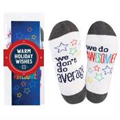 We Don't Do Average, We Do Awesome Toe-Tally Awesome Socks Gift Set With Holiday Wrap