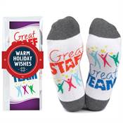 Great Staff, Great Team Toe-Tally Awesome Socks Gift Set With Holiday Wrap
