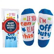 If You Can Read This, I'm Off Duty Toe-Tally Awesome Socks Gift Set With Holiday Wrap