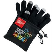 We Don't Do Average, We Do Awesome Touchscreen Gloves with Microfiber Pouch & Holiday Gift Card