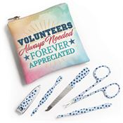 Volunteers: Always Needed, Forever Appreciated Full-Color Manicure Set
