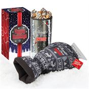 Thanks For Being Awesome Sweater Ice Scraper Mitt & Tumbler With Gourmet Popcorn Gift Set With Holiday Ribbon