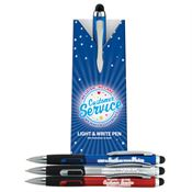 Customer Service Light & Write Stylus Pen Assortment Pack With Pillow Box