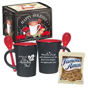 For All You Do We Appreciate You! Ceramic Spooner Mug With Cookies